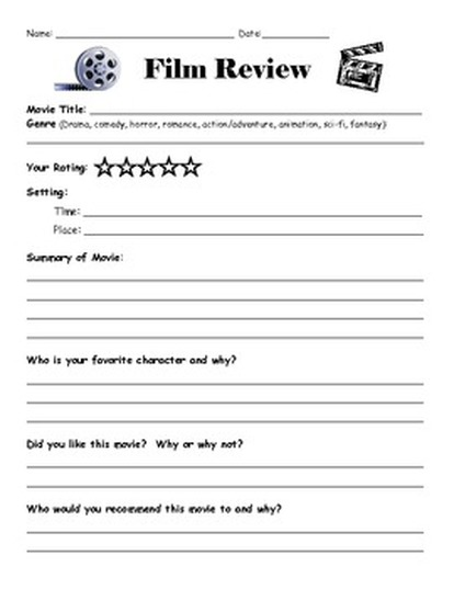 Movie poster analysis worksheet